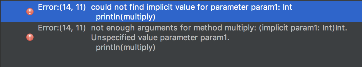 Implicit error