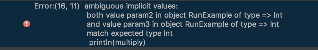 Two implicit variables error